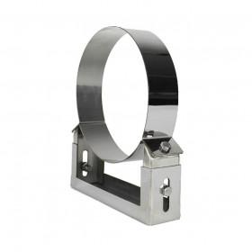 Edelstahlschornstein 60 - 100 mm verstellbarer Wandhalter
